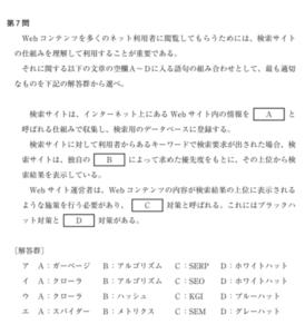 情シスH29過去問SEOイメージ